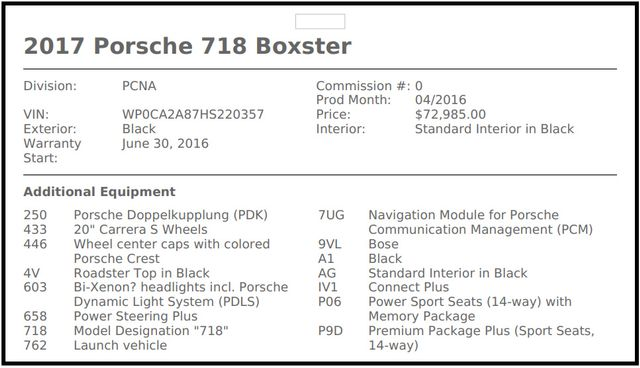 "2017 Porsche 718 Boxster NAV - PREMIUM PKG PLUS - 20"" CARRERA S WHEELS! Mooresville , NC 6"