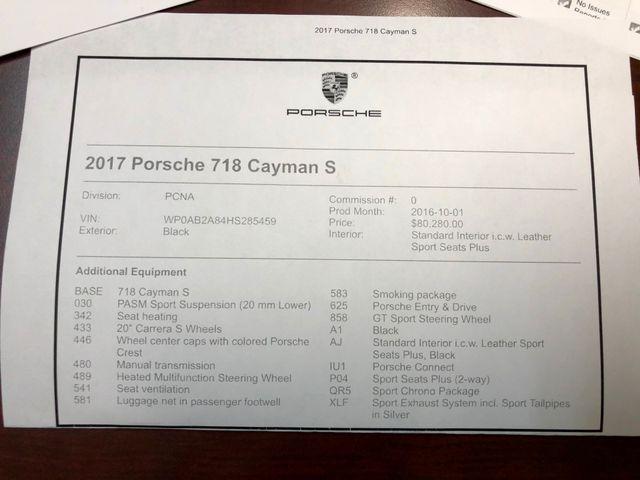 2017 Porsche 718 Cayman S Longwood, FL 45