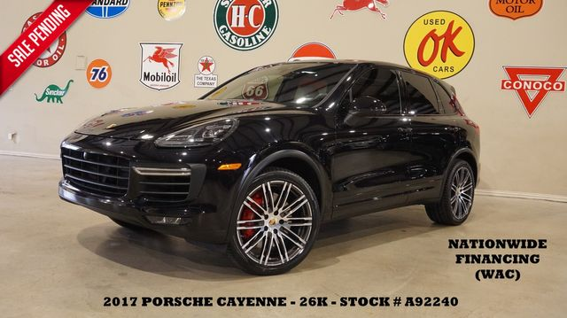 2017 Porsche Cayenne Turbo AWD PANO ROOF,NAV,360 CAM,HTD/COOL LTH,26K