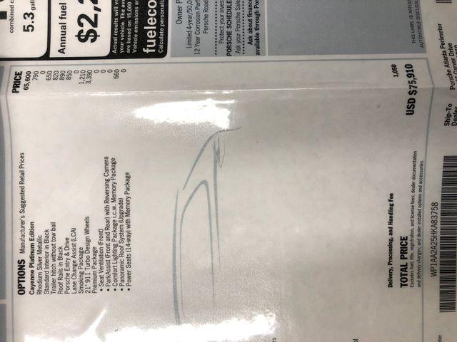 2017 Porsche Cayenne Platinum Edition Longwood, FL 40