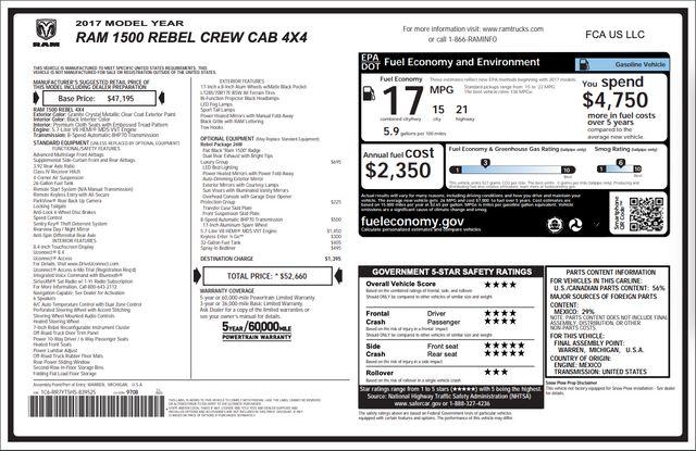 2017 Ram 1500 Rebel in Addison, Texas 75001