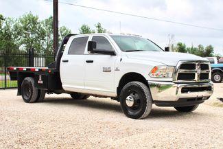 2017 Ram 3500 Tradesman Crew Cab 4x4 6.7L Cummins Diesel Aisin Auto Flatbed Sealy, Texas 1