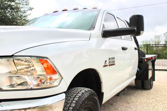 2017 Ram 3500 Tradesman Crew Cab 4x4 6.7L Cummins Diesel Aisin Auto Flatbed Sealy, Texas 4