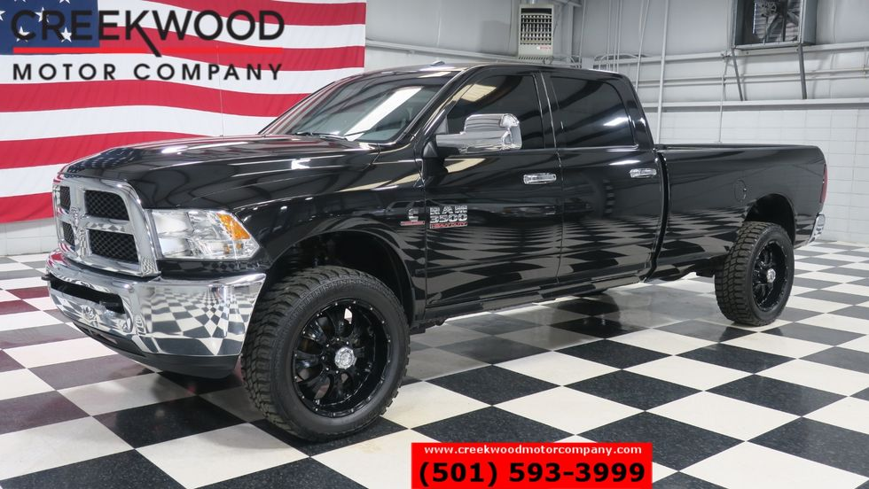 2017 Dodge Diesel >> 2017 Ram 3500 Dodge Slt 4x4 Diesel Long Bed Black 22s New Tires Clean