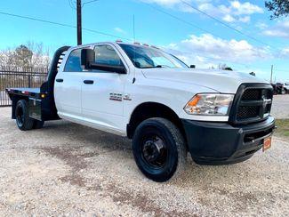 2017 Ram 3500 DRW Tradesman Crew Cab 4X4 6.7L Cummins Diesel Aisin Auto Flatbed in Sealy, Texas 77474