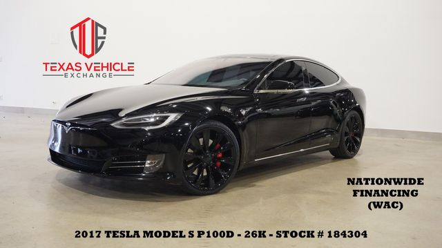 2017 Tesla Model S P100D MSRP 160K,SUNROOF,NAV,HTD/COOL LTH,21'S,26K