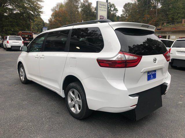 2017 Toyota Sienna LE handicap wheelchair van rear entry.. Dallas, Georgia 5