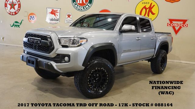 2017 Toyota Tacoma TRD Off Road 4X4 LIFTED,ROOF,NAV,HTD CLOTH,17K