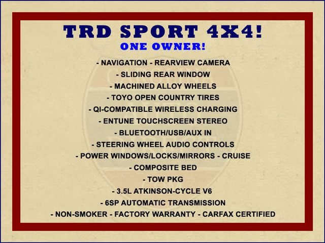 2017 Toyota Tacoma TRD Sport Double Cab 4x4 - NAVIGATION - TOW PKG! Mooresville , NC 1