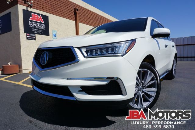 2018 Acura MDX Tech Package w/Technology Pkg Pearl White 3rd Row
