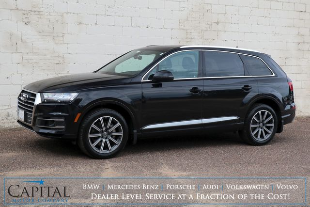 2018 Audi Q7 3.0T Prestige Quattro AWD w/3rd Row Seats, Nav, Panoramic Roof, Heated/Cooled Seats and Tow Pkg