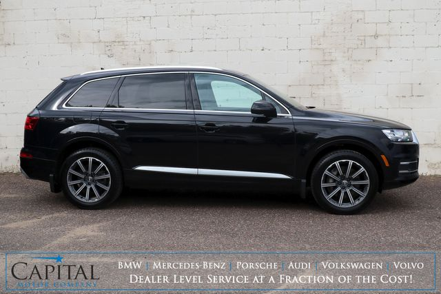 2018 Audi Q7 3.0T Prestige Quattro AWD w/3rd Row Seats, Nav, Panoramic Roof, Heated/Cooled Seats and Tow Pkg in Eau Claire, Wisconsin 54703