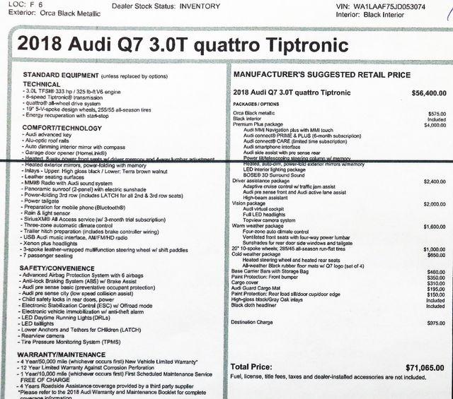 2018 Audi Q7 3.0T Quattro Premium Plus in Alexandria VA