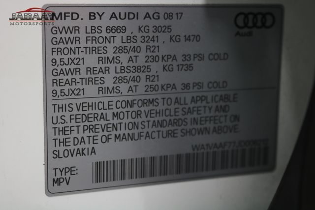 2018 Audi Q7 Prestige Merrillville, Indiana 50