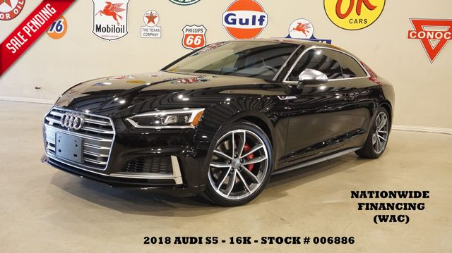 2018 Audi S5 Coupe Prestige HUD,ROOF,NAV,360 CAM,HTD LTH,16K in Carrollton, TX 75006
