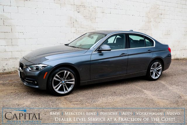 2018 BMW 330xi xDrive AWD Luxury Car w/Sport Pkg, Nav, Backup Cam, Heated Seats & Steering Wheel