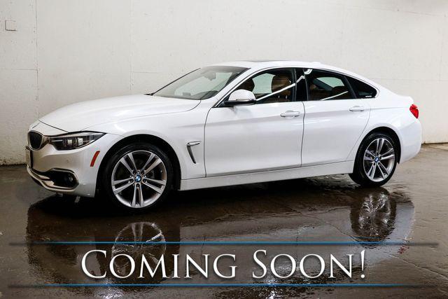 2018 BMW 430xi xDrive AWD Gran Coupe w/Luxury Pkg, Nav, Heated Seats, H/K Audio & Factory Warranty in Eau Claire, Wisconsin 54703