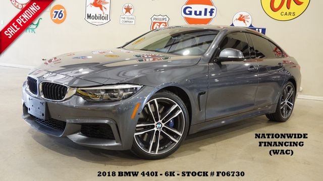 2018 BMW 440i Grand Coupe MSRP 61K,HUD,ROOF,NAV,S&TOP CAM,HTD/LTH,6K