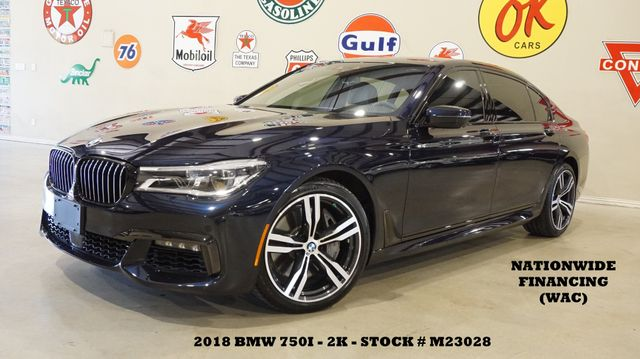 2018 BMW 750i Sedan MSRP 109K,HUD,EXECUTIVE PKG,M SPORT PKG,2K
