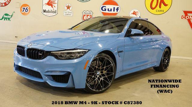 2018 BMW M4 Coupe MSRP 81K,HUD,NAV,F&TOP CAM,HTD LTH,20'S,9K in Carrollton, TX 75006