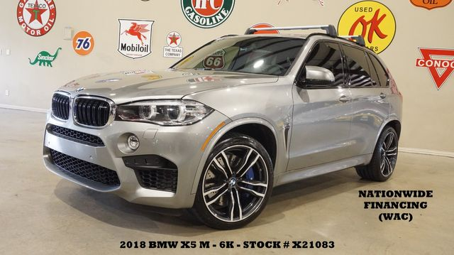 2018 BMW X5 M MSRP 105K,PANO ROOF,NAV,BACK-UP,HTD LTH,21'S,6K