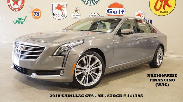 2018 Cadillac CT6 Sedan Platinum AWD HUD,ULTRA ROOF,360 CAM,REAR DVD,9K