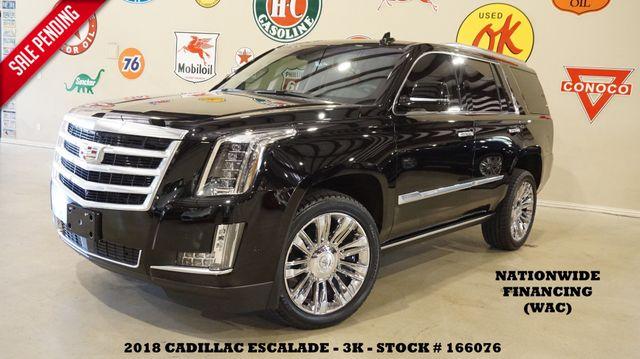 2018 Cadillac Escalade Premium Luxury HUD,ROOF,NAV,360 CAM,REAR DVD,3K