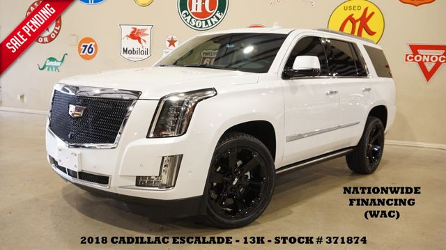 2018 Cadillac Escalade Premium Luxury HUD,ROOF,NAV,360 CAM,REAR DVD,13K