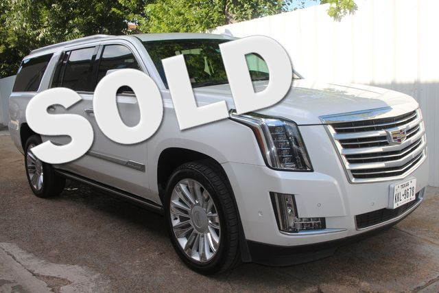 2018 Cadillac Escalade ESV Platinum Houston, Texas 0