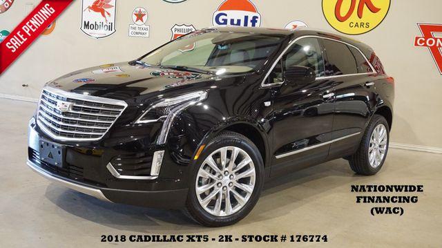2018 Cadillac XT5 Platinum AWD HUD,ROOF,NAV,360 CAM,HTD/COOL LTH,2K