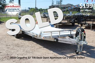 2018 Cargo Pro 22' - TILT DECK Manual Tilt Deck 22' Open Car Trailer - NO RAMPS! CONROE, TX