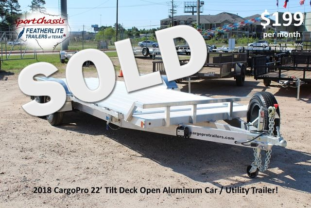 2018 Cargo Pro 22' - TILT DECK Manual Tilt Deck 22' Open Car Trailer - NO RAMPS! CONROE, TX 0