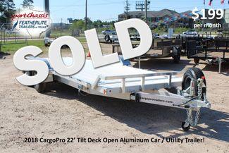 2018 Cargo Pro Open Utility Trailer 22' Open Car Hauler CONROE, TX