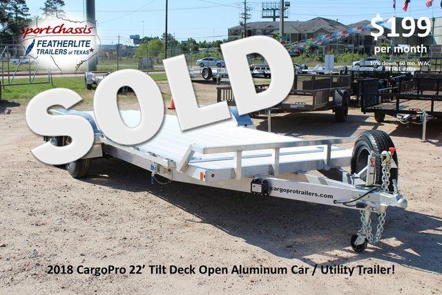 2018 Cargo Pro Open Utility Trailer 22' Open Car Hauler CONROE, TX 0