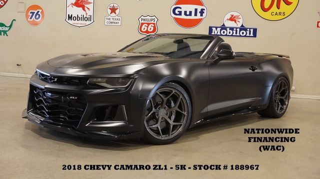 2018 Chevrolet Camaro ZL1 CONV,MATTE BLK,LOWERED,EXHAUST,BC FORGED,5K