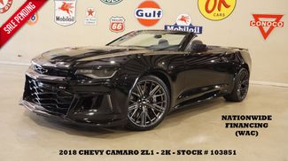 2018 Chevrolet Camaro ZL1 CONV,6 SPD,HUD,NAV,HTD/COOL LTH,2K in Carrollton, TX 75006