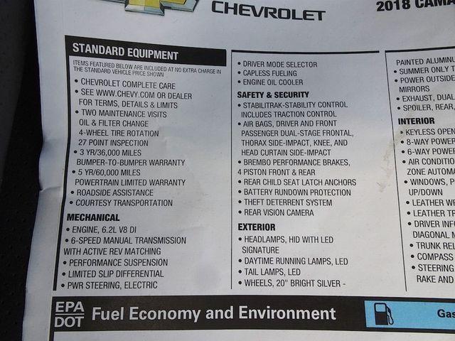 2018 Chevrolet Camaro SS Madison, NC 45