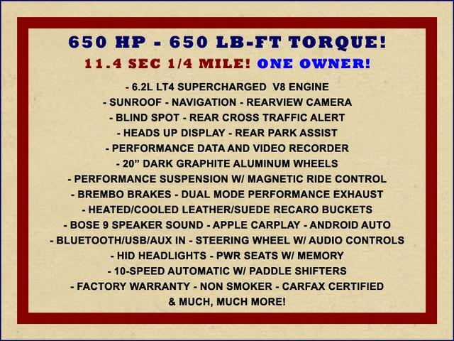 2018 Chevrolet Camaro ZL1 - NAV - SUNROOF - PERFORMANCE RECORDER! Mooresville , NC 1