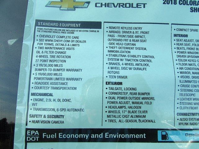2018 Chevrolet Colorado 2WD LT Madison, NC 45