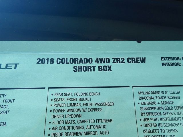 2018 Chevrolet Colorado 4WD ZR2 Madison, NC 54