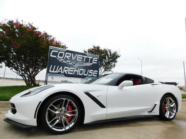 2018 Chevrolet Corvette Coupe 3LT, NAV, Auto, Glass Top, Chromes Only 25k