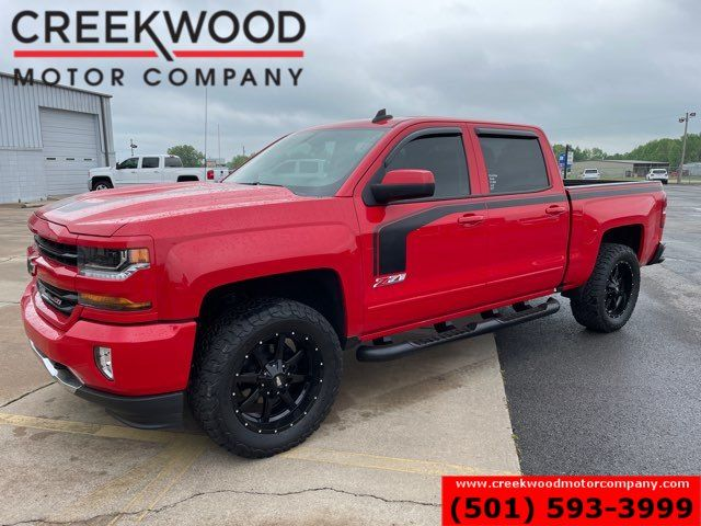 2018 Chevrolet Silverado 1500 LT Z71 4x4 Red Leveled New Tires 20s 1 Owner NICE