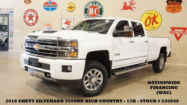 2018 Chevrolet Silverado 3500HD High Country 4X4 DIESEL,ROOF,NAV,17K