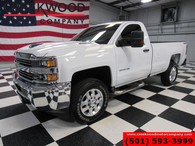 2018 Chevrolet Silverado 3500HD W/T SRW Long Bed Reg Cab 4x4 Diesel White 1 Owner in Searcy, AR 72143