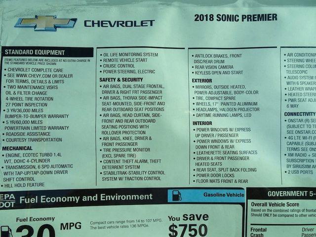 2018 Chevrolet Sonic Premier Madison, NC 58
