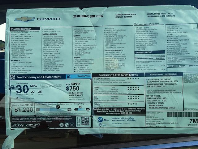 2018 Chevrolet Sonic LT Madison, NC 55