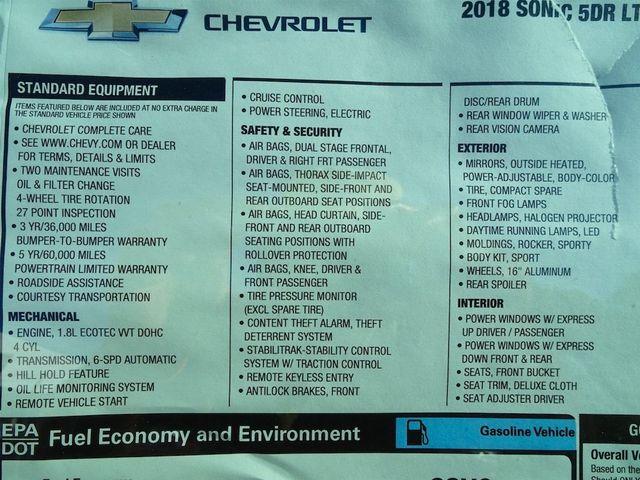 2018 Chevrolet Sonic LT Madison, NC 57