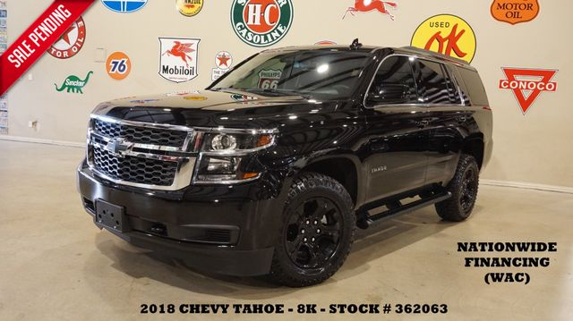 2018 Chevrolet Tahoe LS BACK-UP CAM,CLOTH,BLK WHLS,8K,WE FINANCE in Carrollton, TX 75006