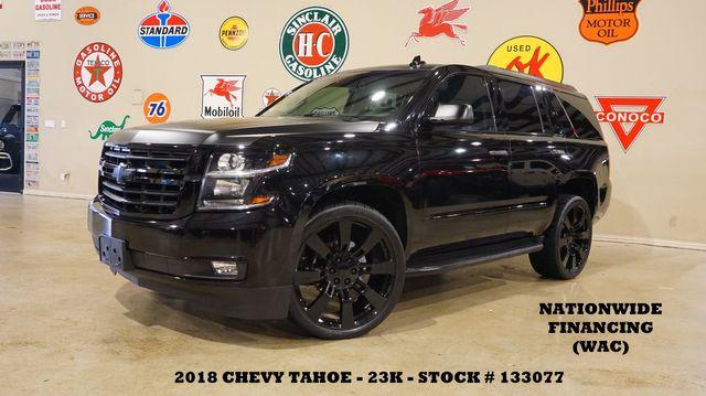 2018 Chevrolet Tahoe Premier HUD,SUNROOF,NAV,REAR DVD,QUADS,24'S,23K