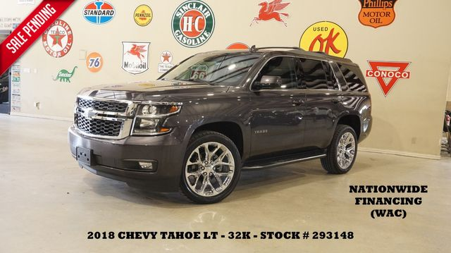 2018 Chevrolet Tahoe LT 4WD ROOF,NAV,REAR DVD,HTD LTH,QUADS,22'S,32K in Carrollton, TX 75006